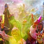 Hindus celebrate the Hindu spring festiv