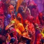 Hindu Devotees Celebrate Holi Festival In India