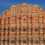 The facade of the Hawa Mahal or