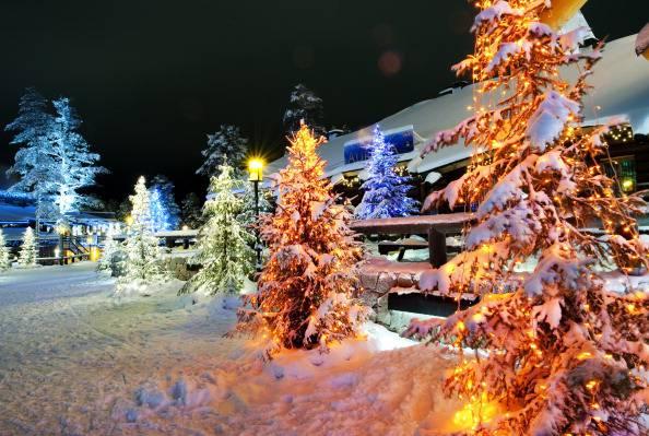 Immagini Natalizie Lapponia.La Casa Di Babbo Natale E In Lapponia E In Italia