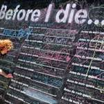 Public Chalkboard Art Installation Encourages People To Write Bucket List Entries