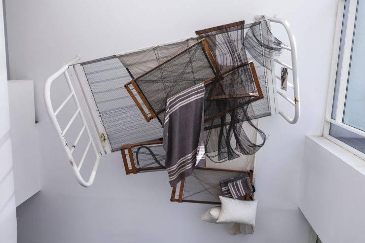 Barcelona, Spain - April 18, 2016: interior exibition in MACBA Museo De Arte Contemporaneo, Museum of Contemporary Art build in 1995 by architect Richard Meier