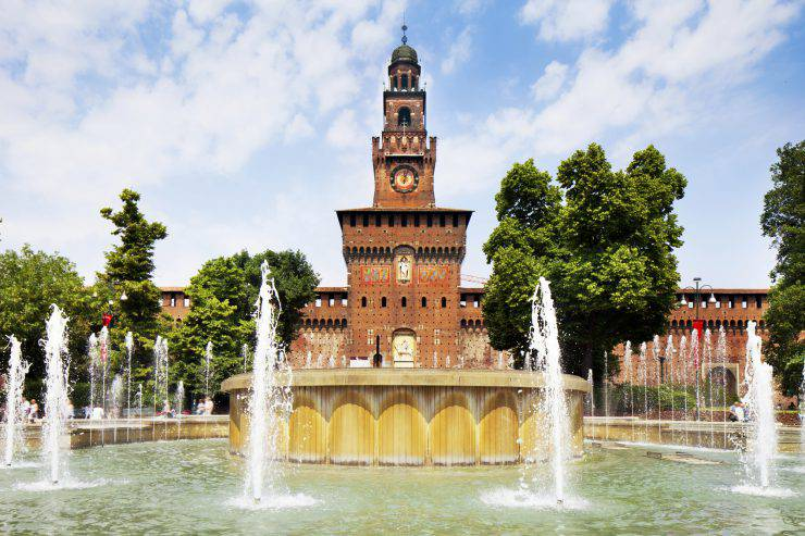"""Castello Sforzesco in Milan, Italy"""
