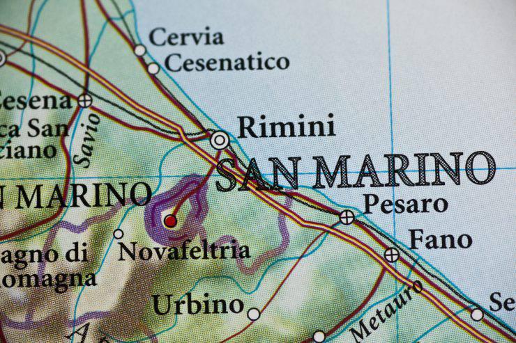 San Marino, Italy map