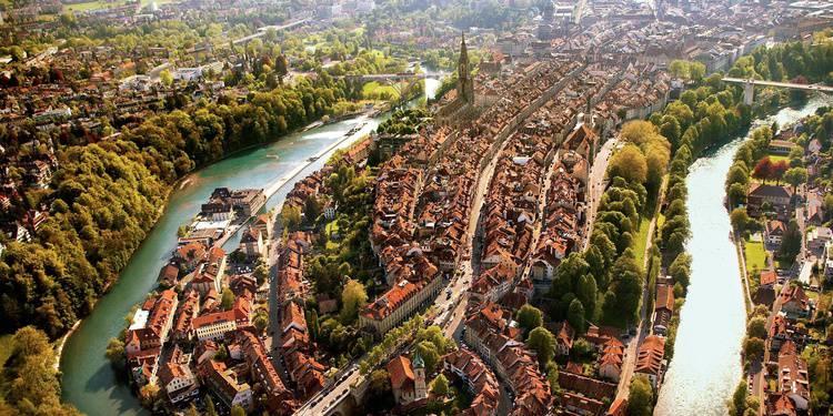 Berna veduta dall'alto - da internet
