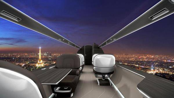paura volare IXION aereo trasparente