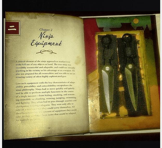 libro con pugnali nascosti
