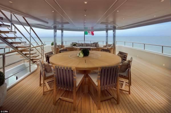 sala giorno yacht