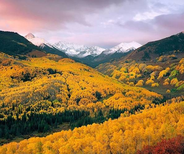Capitol Creek Valley, Colorado autunno