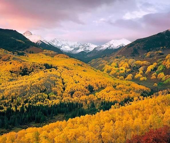 Capitol Creek Valley, Colorado autunno