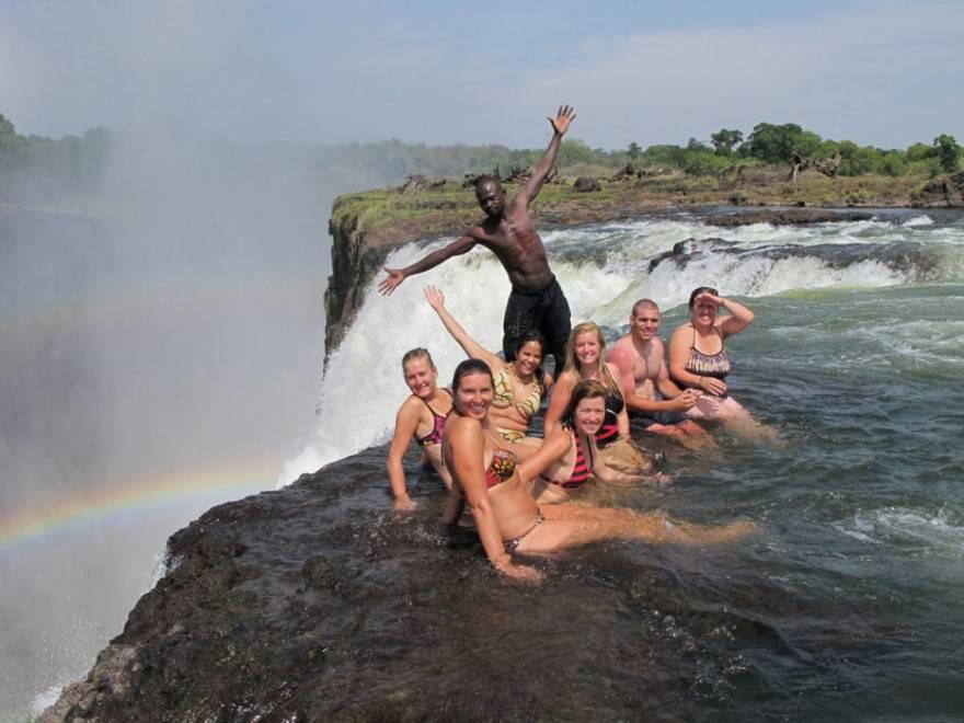 Piscina del diavolo, cascate Vittoria - Zambia