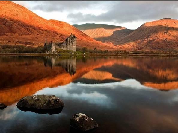 scozia castello autunno