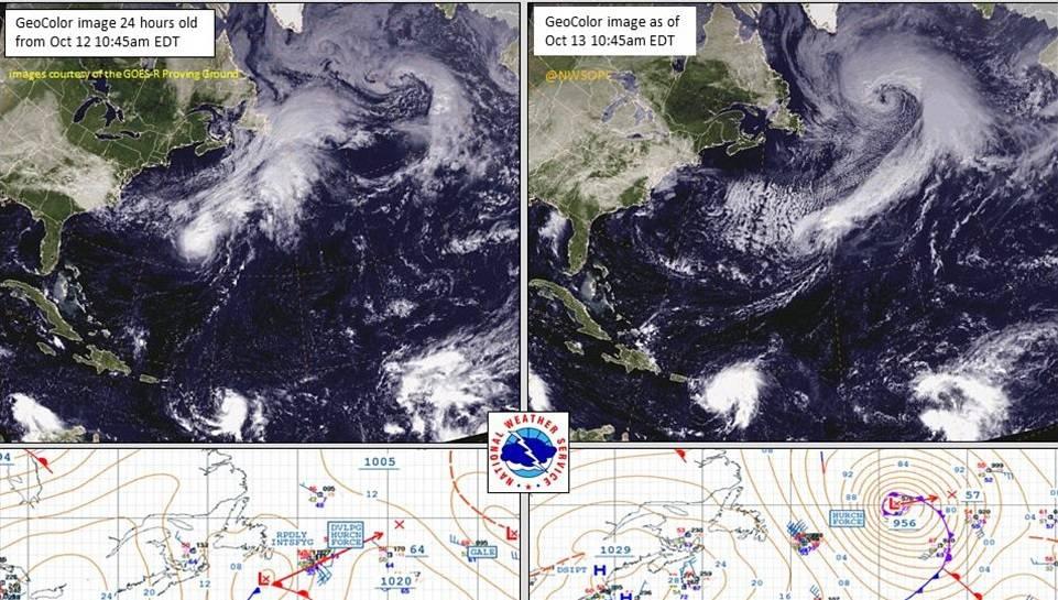 Il satellite mostra lo spostamento del centro della Tempesta