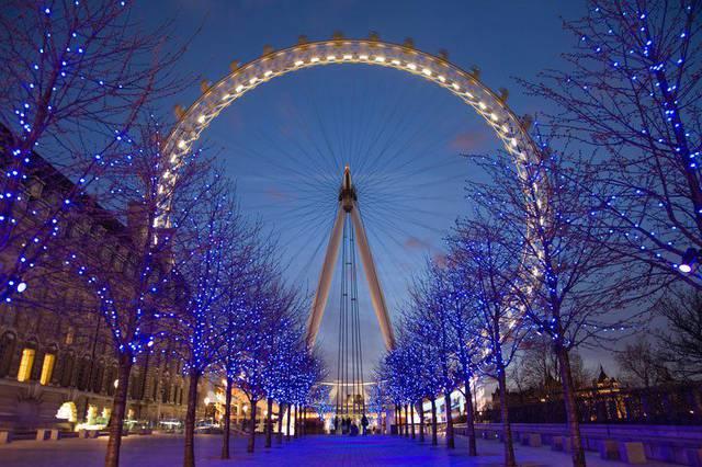 London Eye a Natale
