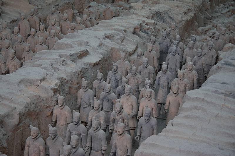 Museo dell'esercito di terracotta, sito archeologico, mausoleo del primo imperatore Qin Shi Huang, Xi'an, Cina