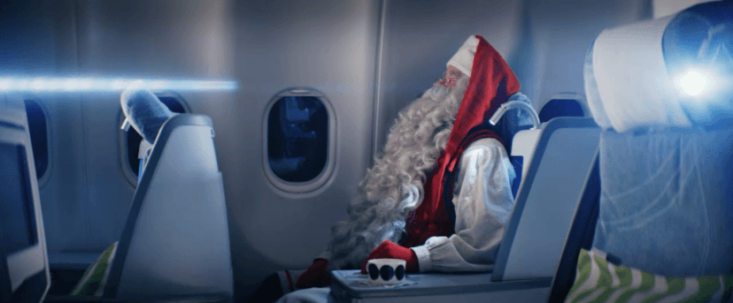 Still image from Finnair´s Santa Claus video