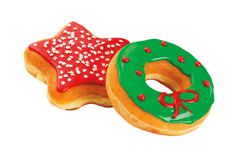 Wreath and Star Donuts silo