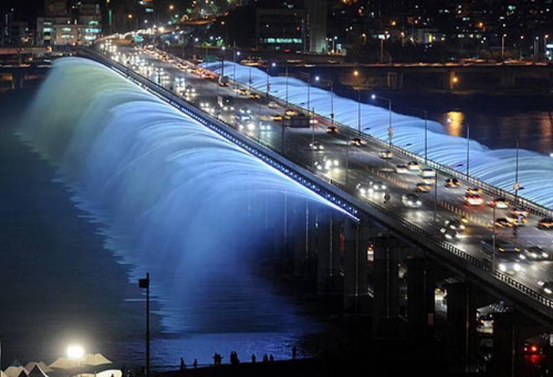 Banpo Bridge Fountain, Seoul, Sud Corea