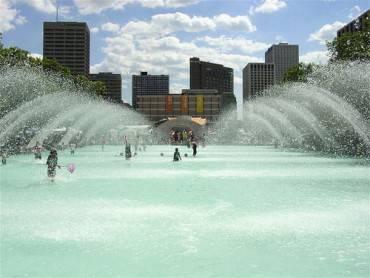 City Hall Fountains, Downtown Edmonton, Canada