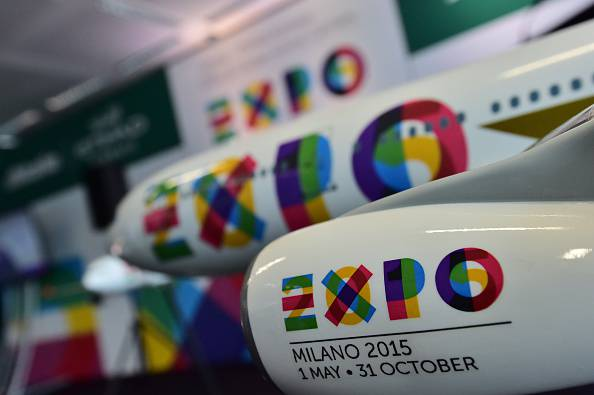ITALY-BUSINESS-ALITALIA-ETIHAD-EXPO