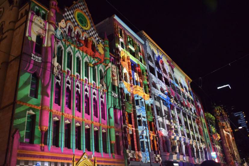 Flinders Street Projections_2