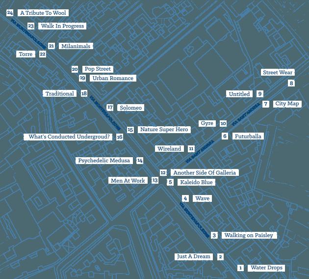 mappa tombini milano