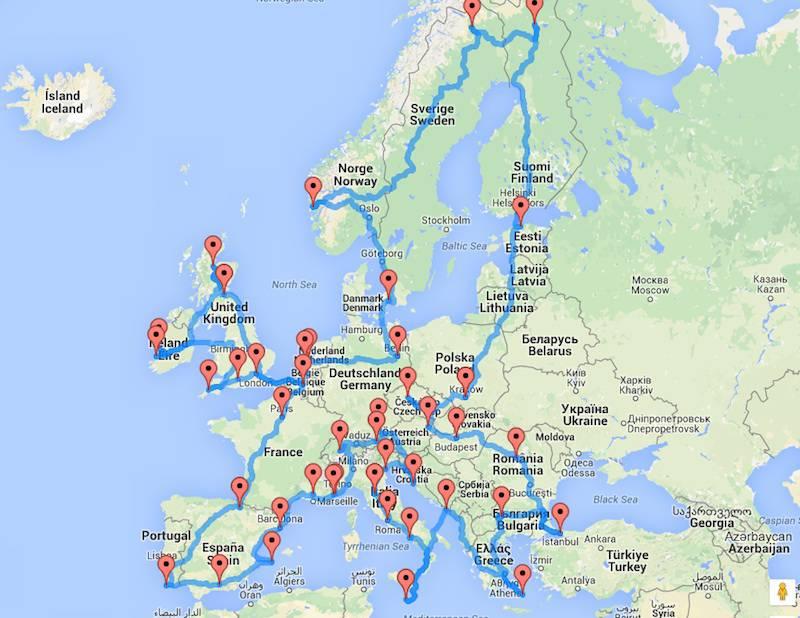 coast to coast europa
