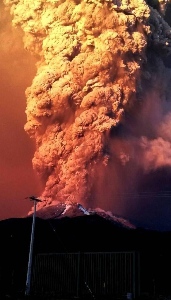 Getty Images - Vulcano eruzione Cile