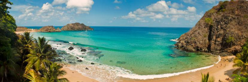 Panoramic view of the beach paradise, Fernando de Noronha