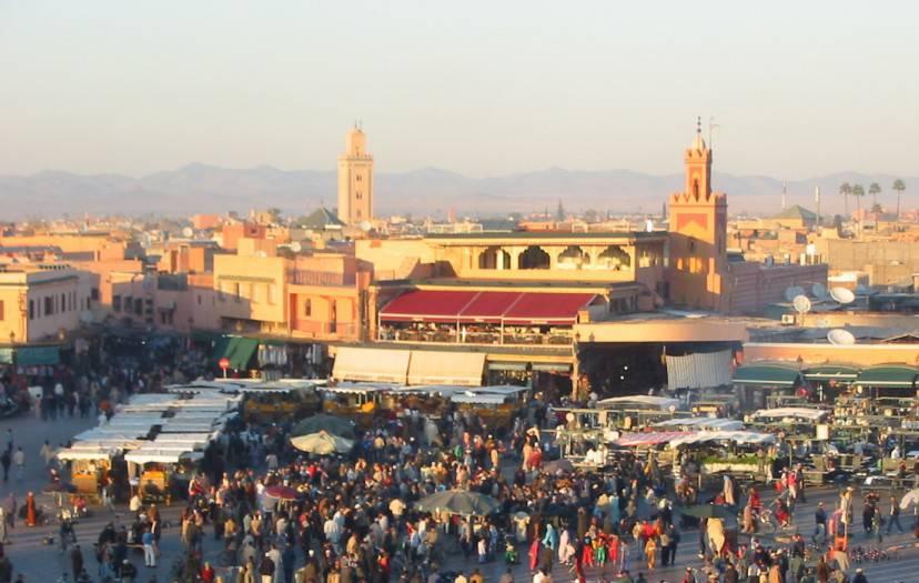 Piazza Jemaa el Fna, Marrakech,