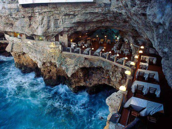 Grotta Palazzese, Polignano a Mare @Pinterest