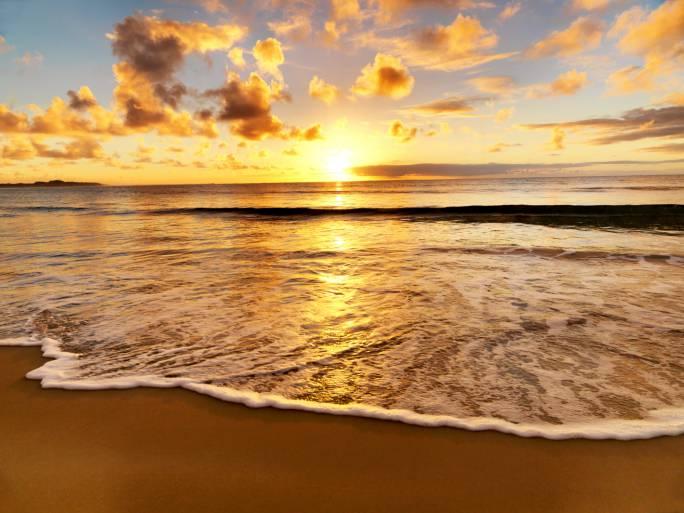 beautiful sunset on the Australian beach