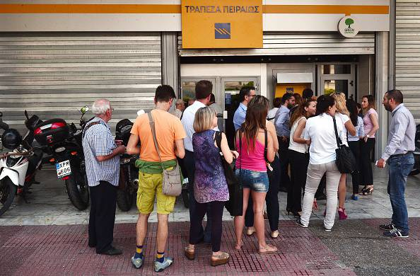 Code ai bancomat in Grecia (LOUISA GOULIAMAKI/AFP/Getty Images)