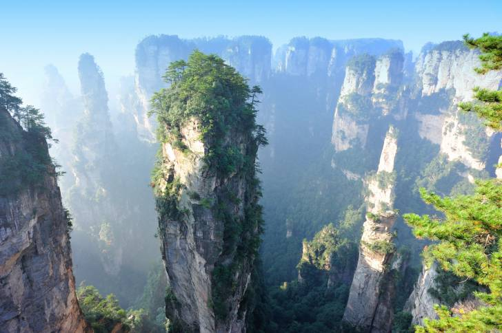 mountain landscape of zhangjiajie national park,china