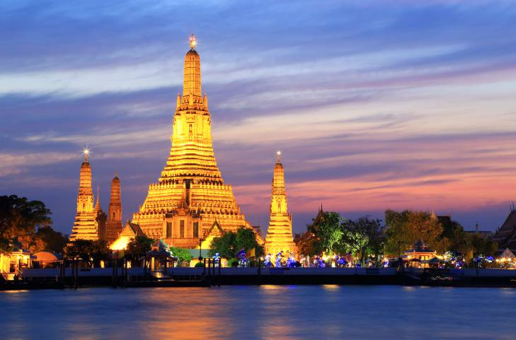 Bangkok e il tempio Wat Arun (Thinkstock)