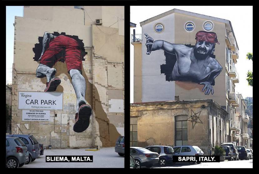 MTO murales migranti (Dal profilo facebook dell'artista)