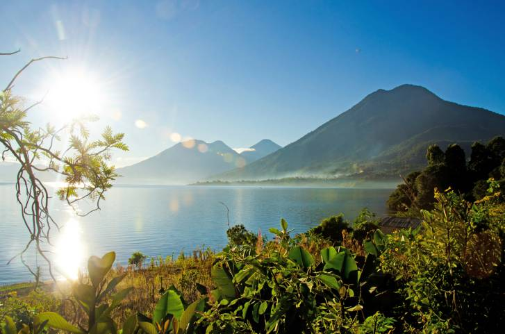 Vulcano Landscape in Guatemala Lake Atitlan