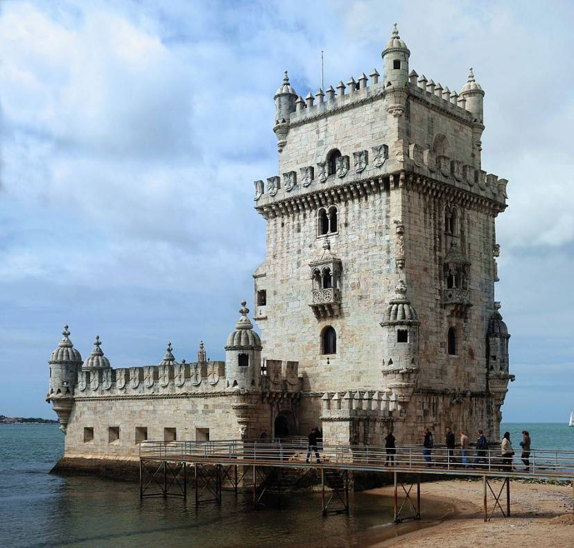 Torre Belém a Lisbona (Foto di Alvesgaspar, da Wikicommons, Licenza CC BY-SA 3.0)