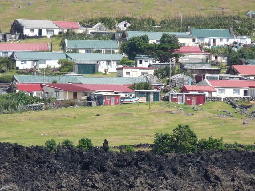 Edinburgh of the Seven Seas, Tristan da Cunha (Foto di michael clarke. Licenza CC BY-SA 2.0 via Wikimedia Commons)