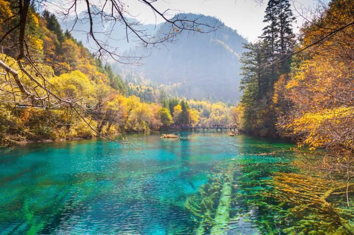 Valle del Jiuzhaigou, Cina, autunno (Thinkstock)
