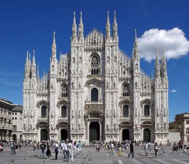 Il Duomo di Milano (Foto di Jakub Hałun. Licenza GFDL via Wikimedia Commons)
