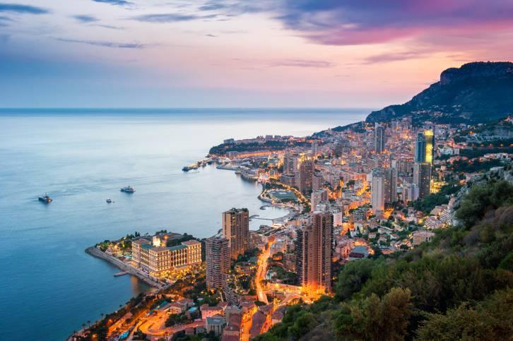 Sunset on Montecarlo, Monaco