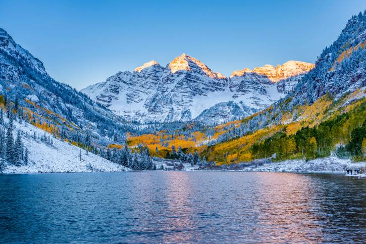 Maroon bells at sunrise, Apen, CO