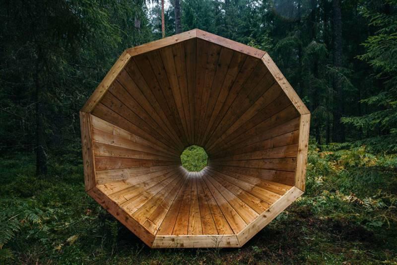 Altoparlante nel bosco (Foto Bioradar)