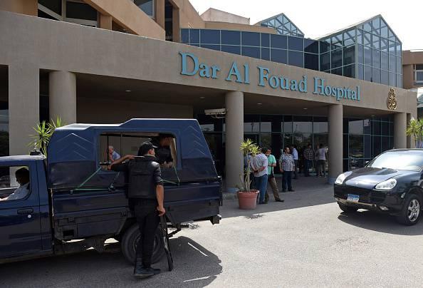 L'ospedale dove sono ricoverati i turisti feriti (MOHAMED EL-SHAHED/AFP/Getty Images)