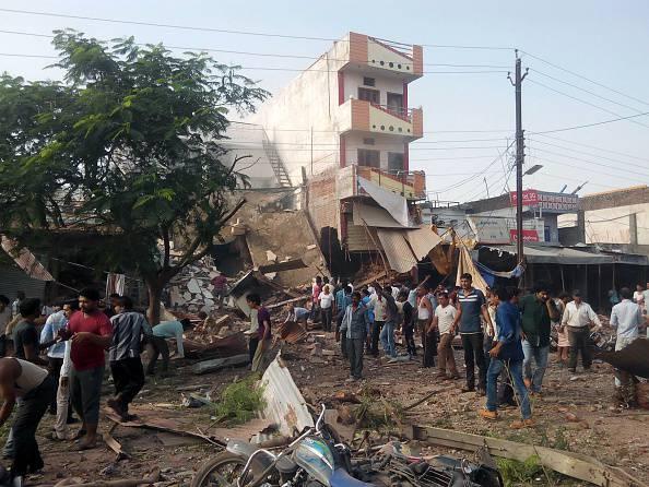 Esplosione in hotel-ristorante in india (STR/AFP/Getty Images)