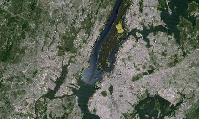 Manhattan nel 1609 (Mappa Weilikia project)