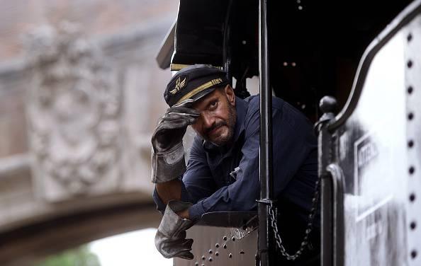 Macchinista del treno dal Vaticano a Castel Gandoflo (FILIPPO MONTEFORTE/AFP/Getty Images)