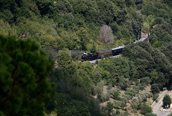 Il treno verso Castel Gandolfo (FILIPPO MONTEFORTE/AFP/Getty Images)