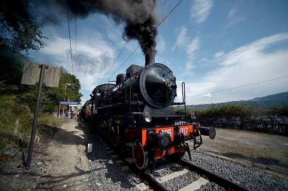 Il treno a Castel Gandolfo (FILIPPO MONTEFORTE/AFP/Getty Images)